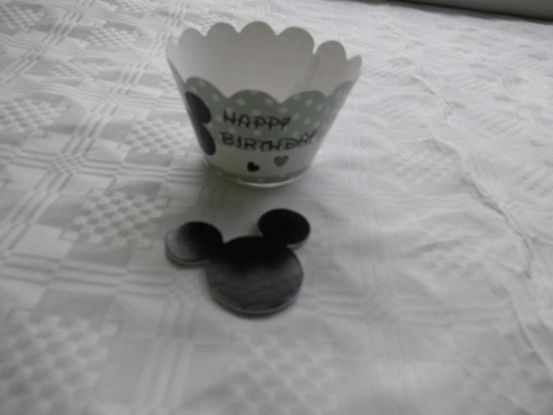 cupcake wrapper mickey mouse groen 2