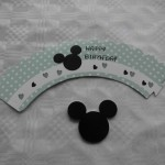 cupcake wrapper mickey mouse groen